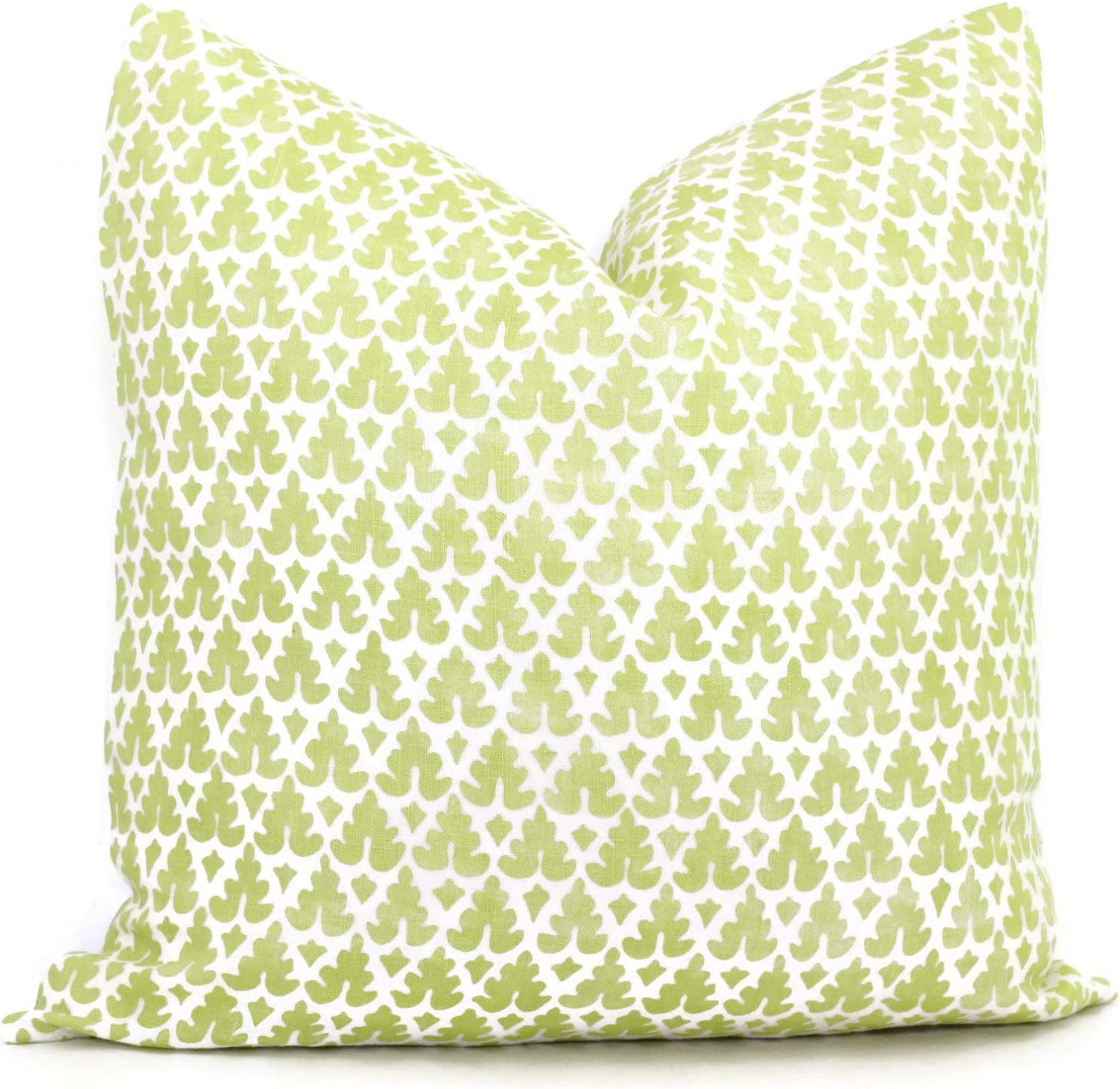 Flowershave357 Quadrille Green Apple Volpi Pillow Cover Square Eurosham Lumbar Pillow Accent Pillow Throw Pillow Greenery Pantone Color toss Pillow