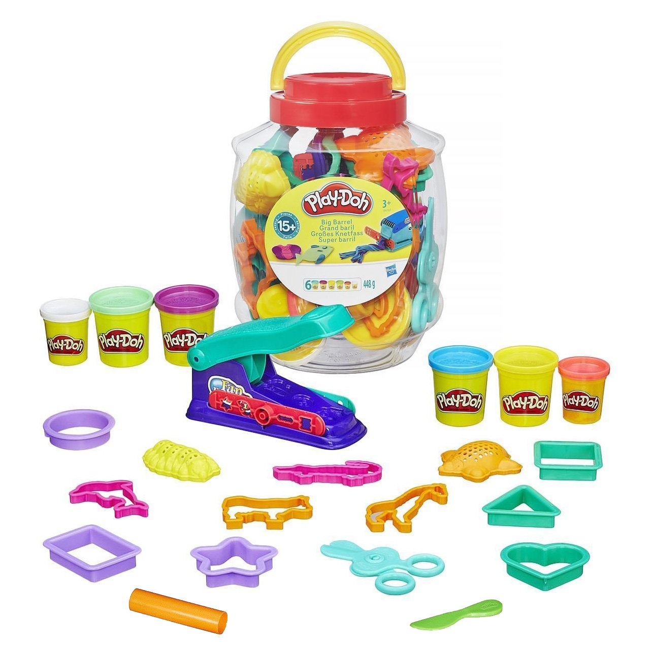 Hasbro - 334357862 - Loisir Créatif - Play Doh - Baril Transparent Play product image