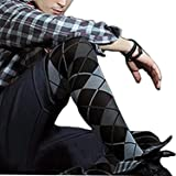 a5d284cbc54 HIMEALAVO Mens Pantyhose Plaid Nylon Body Stockings Mens Pantyhose for Men