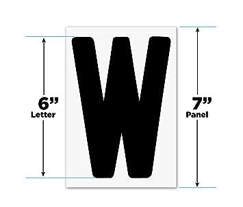 Intercambiables al aire libre signo letras 6
