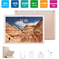 4G Tablet 10.1 Pulgadas Android 9.0, Quad Core DUODUOGO G10 3GB RAM 32GB ROM/128GB Escalables Tablet 4G 8500mAh Double SIM/Cámara OTG WiFi Tablet PC (Oro)