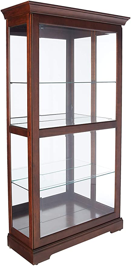 amazon com howard miller tyler curio display cabinet kitchen dining rh amazon com