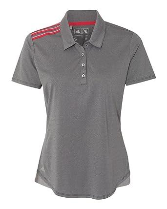 64d66b0ec5 Adidas Golf A235 Ladies 3-Stripes Shoulder Polo at Amazon Women's ...