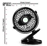 WoneNice Clip on Fan, Adjustable Wind