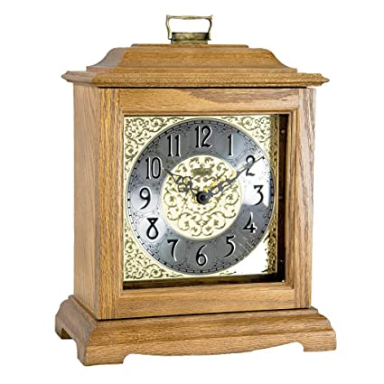 Qwirly Store: Austen Bracket-Style Quartz Mantel Clock by Hermle 22518I9Q -  Classic Decorative Antique Style Table Clock with Westminster Chime
