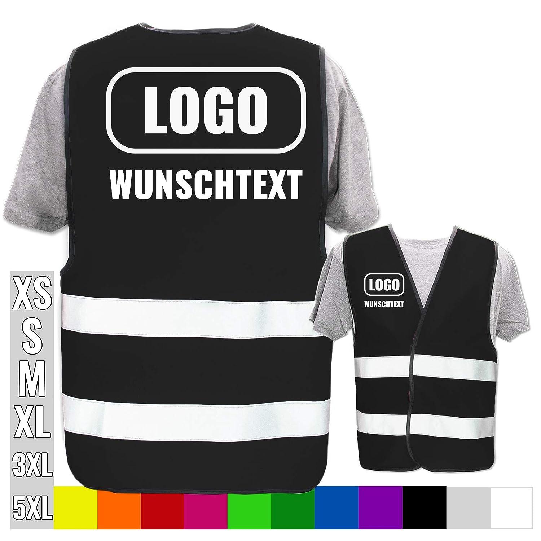 Warnweste mit eigenem Aufdruck selbst gestalten * Bedruckt mit Name Text Bild Logo Firma bis XL Position /& Druckart:R/ücken//Standard-Druck Farbe /& Gr/ö/ße:Orange//Gr/ö/ße Universal