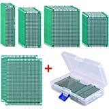 AUSTOR 36 Pieces Double Sided PCB Board Prototype Kit, 5 Sizes Universal Printed Circuit Protoboard with Free Box, for DIY Soldering and Electronic Project
