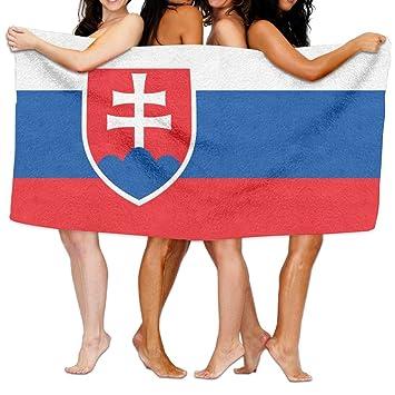 Amazon.com: Toalla de playa bandera de Eslovaquia 80