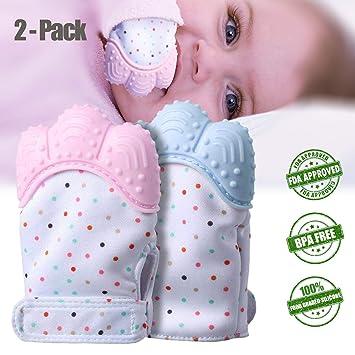 Amazon.com: Guantes de dentición para bebés, paquete de 2 ...