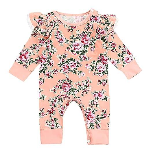 4e9fdf62a6cf Amazon.com  SMTSMT Toddler Baby Newborn Girls Floral Print Romper ...