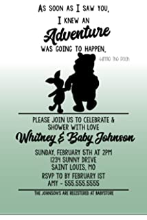 Customized Classic Winnie The Pooh Baby Shower Invitation