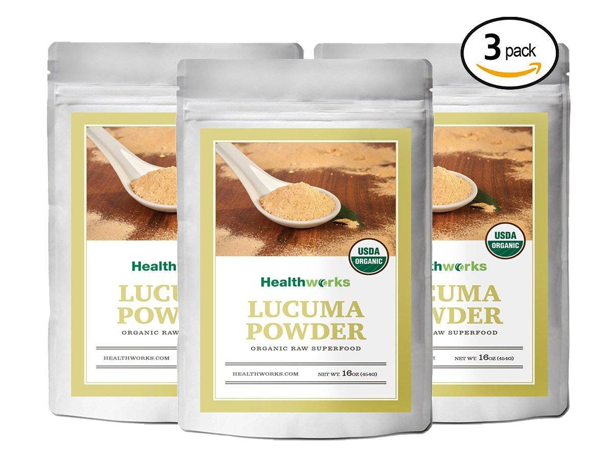 Healthworks Lucuma Powder Raw Organic, 3lb (3 1lb packs) by Healthworks Superfoods