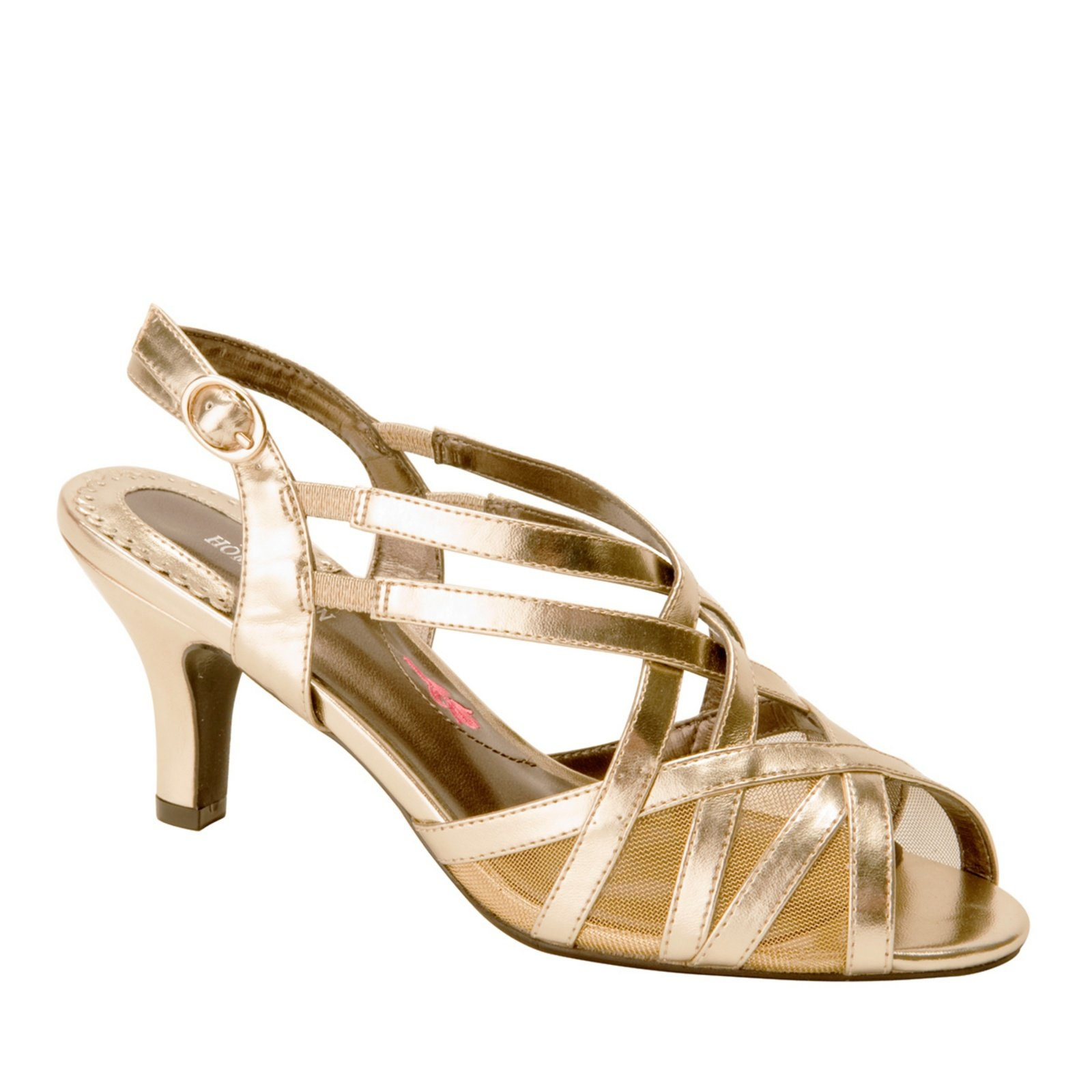 Ros Hommerson Women's Lacey Sandals,Gold,7.5 WW