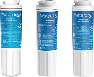 Waterdrop UKF8001 Refrigerator Water Filter, Compatible with Whirlpool UKF8001AXX-750, EveryDrop Filter 4, PUR, Puriclean II, EDR4RXD1, Maytag UKF8001P, UKF8001AXX-200, 4396395, 469006, 3 Filters