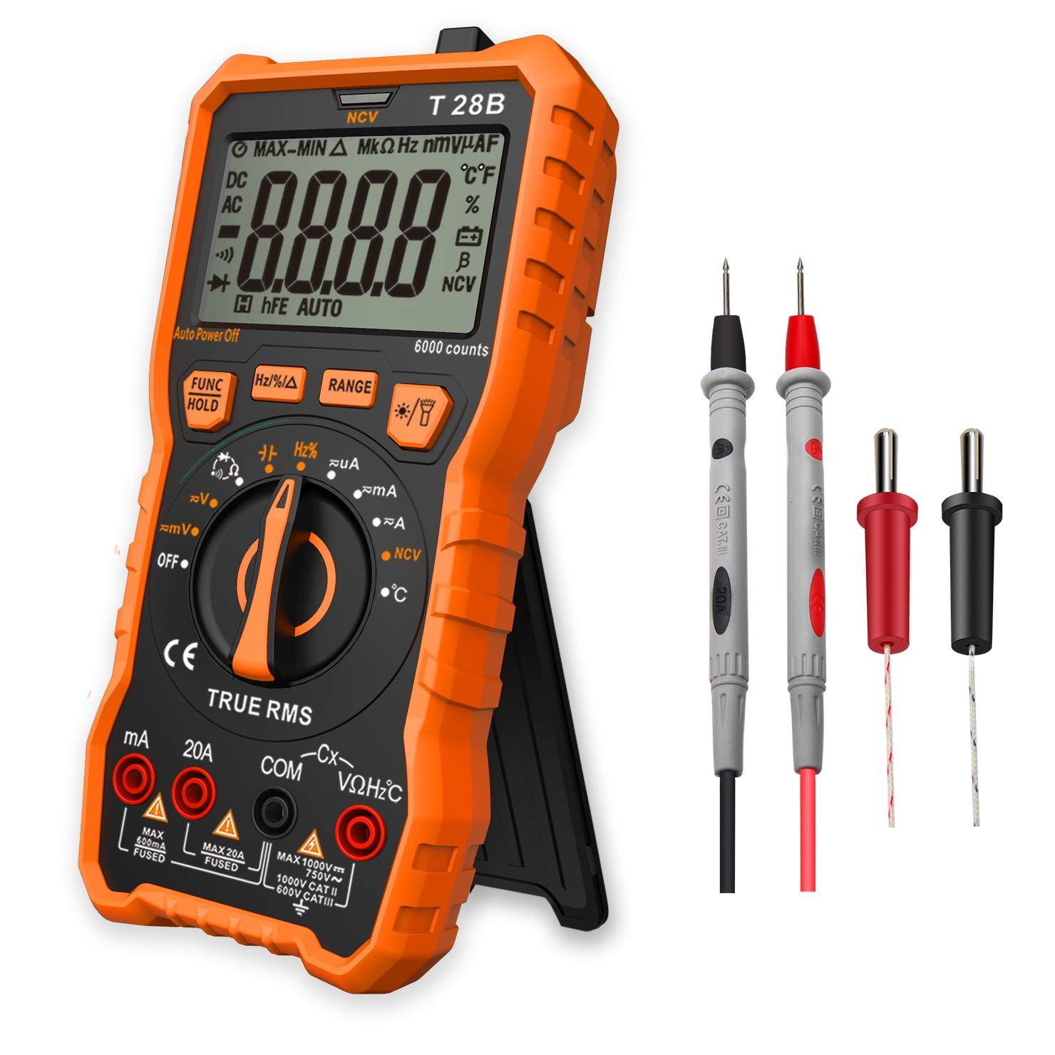 Digital Multimeter Messgerä t, LOMVUM T28B 6000 Counts Auto Range Multimeter True RMS