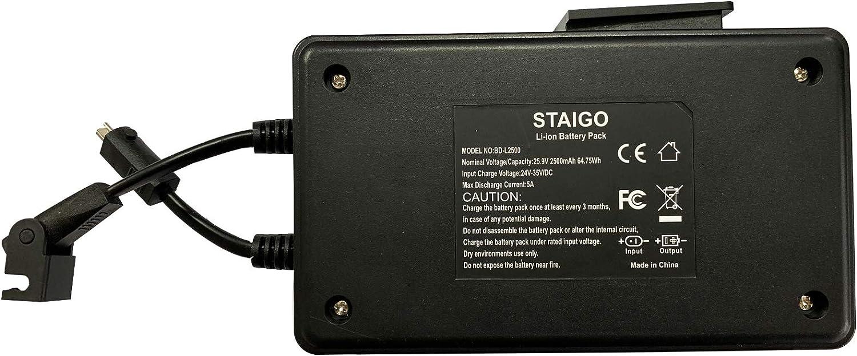 STAIGO Bateria para Sillón reclinable eléctrico-Sofá reclinable con Fuente de alimentación-Silla elevadora-Sillones reclinables Lazy Boy -baterías para Okin-Limoss-Lazboy-Berkline-Med [25.9V 2500mAh]