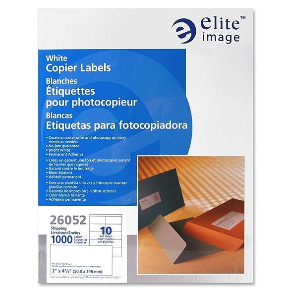 Amazon.com : Elite Image White Copier Full Sheet Labels (ELI26052 ...