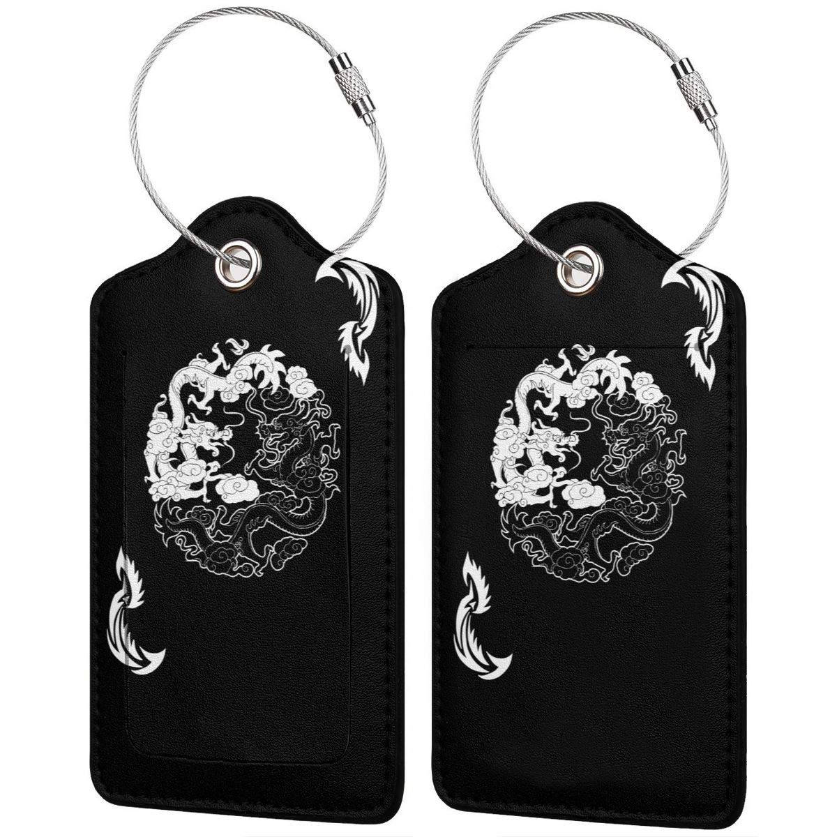 Dungeons And Dragons Yin Yang Good And Evil Pu Leather Double Sides Print Luggage Tag Mutilple Packs 1pcs,2pcs,4pcs