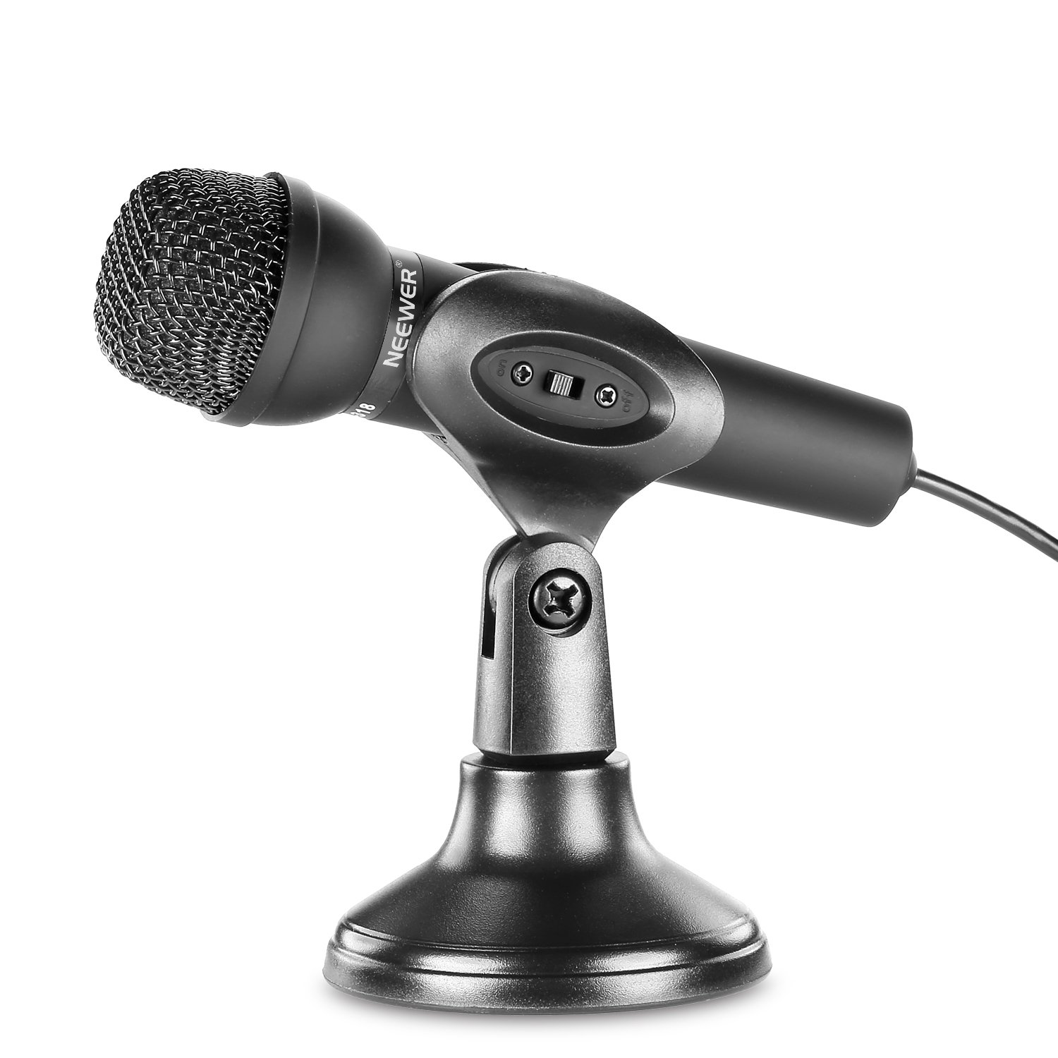 Neewer® Mini Studio Microphone with 3.5mm Stereo Plug and Desktop Stand for PC Computer or Laptop, Ideal for Whatsapp/QQ / MSN/SKYPE Internet Chat, Podcast, Singing, Recording or More