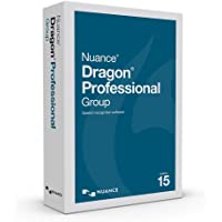 Dragon Professional Group 15.0 - Enterprise Speech Recognition Software, Single User, Dictate Documents and Control your PC – all by Voice, [PC Disc]