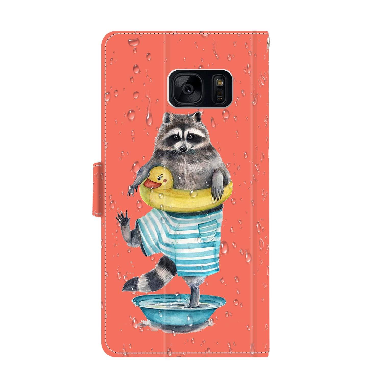Amazon.com: Funda para Samsung Galaxy S7 con tarjetero y ...