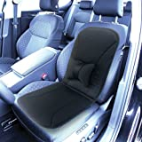 Unisex-Adult Car Seat Cushion - Thin Foam - Removable Lumbar Cushion - 17� X 17�