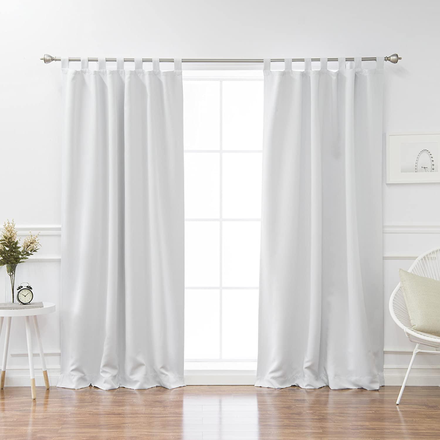 Best Home Fashion Tab Top Thermal Insulated Blackout Curtain Vapor