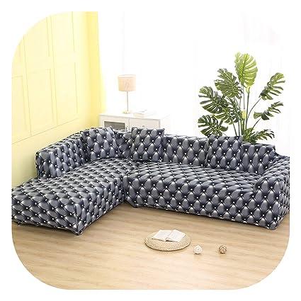 Amazon.com: earth-me 2 Units Cover L-Shaped Sofa with ...