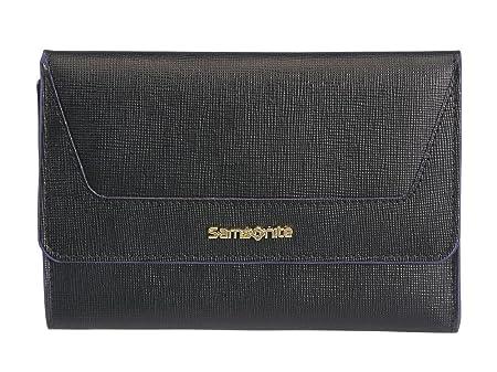 eb5c7183e9c56 Woman Wallet Medium Leather | Samsonite Lady Saffiano II Slg |  33D303-Black: Amazon.co.uk: Luggage