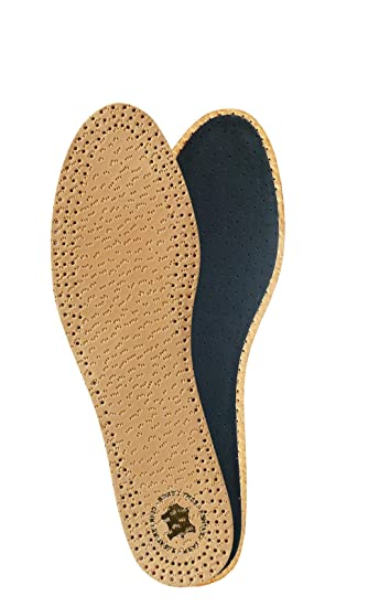 Moneysworth /& Best Premium Full Leather Insoles Inserts Tan//Black W//M sizes 6-12