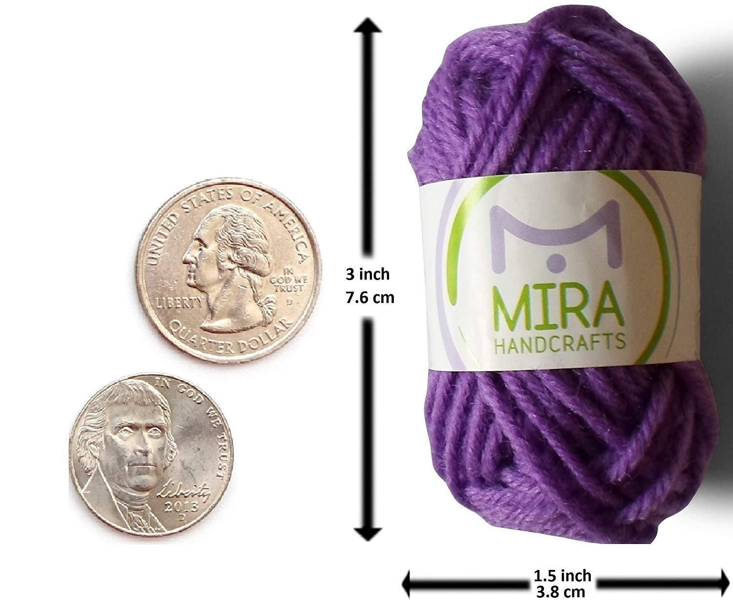 Mira Handcrafts 60 Yarn Bonbons - Total of 1312 Yard Acrylic Yarn for Knitting and Crochet - Yarn Bag for Storage and Accessories Included with Each Pack by Mira HandCrafts (Image #4)