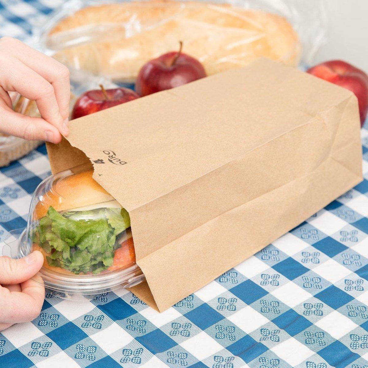 Paper Lunch Bags, Paper Grocery Bags, Durable Kraft Paper Bags, Pack Of 500 Bags (6lb, Brown)