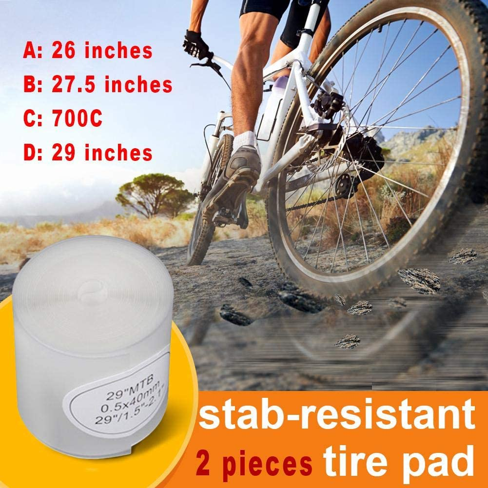 Bike Tyre Liner Tube Bicycle Anti-Puncture Protection Tire Tape 26//27.5//29//700C