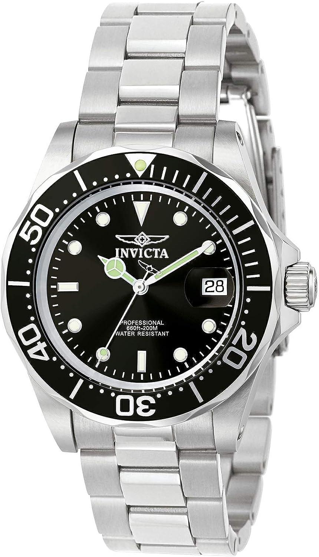 Invicta 9307 Pro Diver Reloj Unisex acero inoxidable Cuarzo Esfera negro