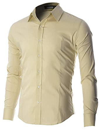 FLATSEVEN Men's Casual Button Down Shirt at Amazon Men's Clothing ...