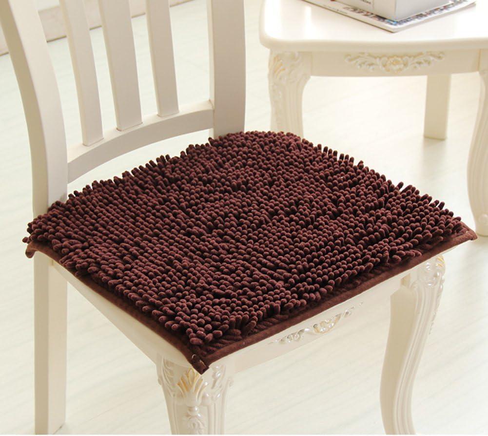 La nieve neil asiento acolchado,Cojines de felpa Amortiguador Amortiguador de la silla de la oficina del Mesa de comedor almohadillas para sillas Espesar comedor amortiguador de la silla-D 45x50cm(18x