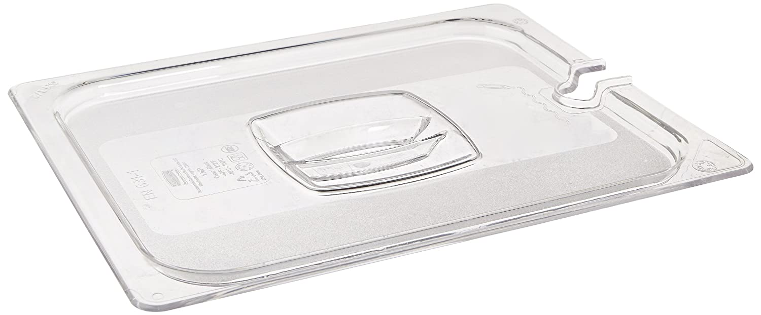 Rubbermaid Commercial Products FG128P86CLR 1/2 Size Cold Food Pan Cover with Utensil Notch