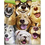 "New Queen//Full Size Dogs Wearing Halloween Costumes Plush 90/"" x 90/"" Blanket"