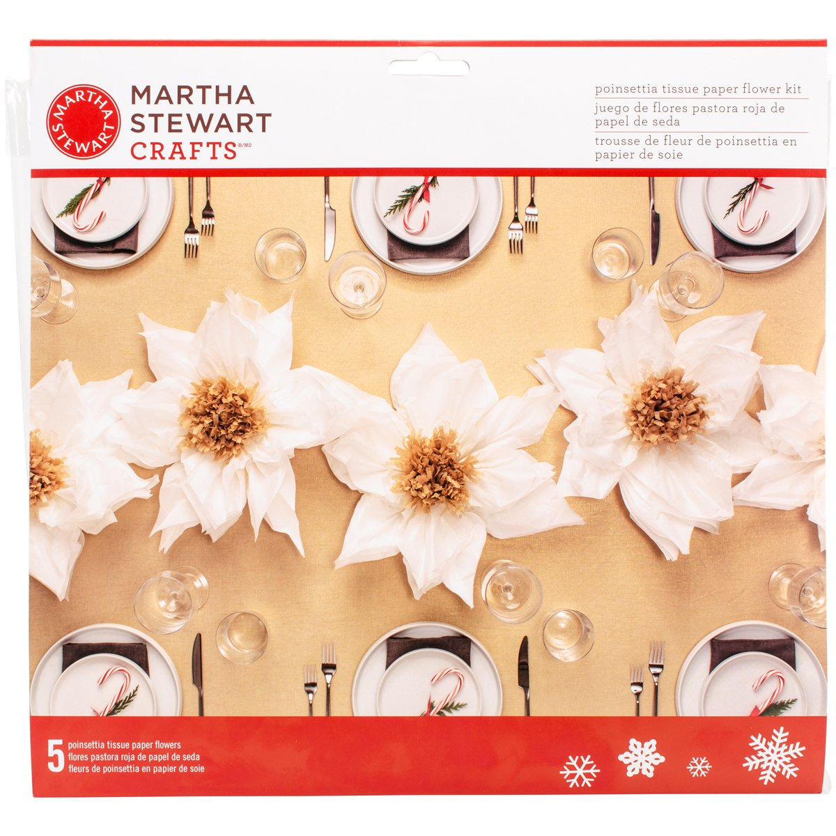Amazon Martha Stewart Crafts Tissue Paper Poinsettia White