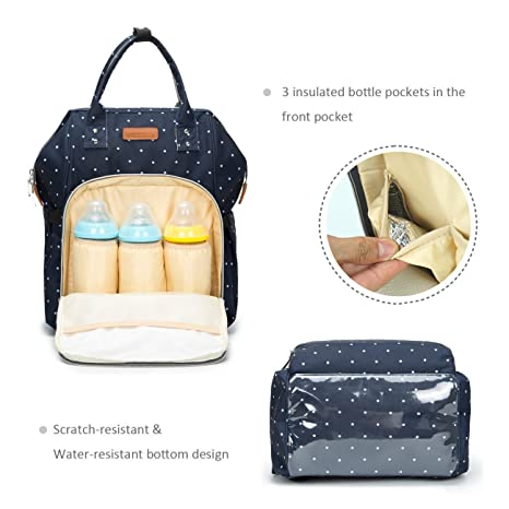 35095faead07 Amazon.com   Ankommling Diaper Bag- RUOXIN Home Waterproof Color Changing  Bag with Changing Mat Insulated Pockets   Stroller Strap Travel Backpack  Tote Bag ...