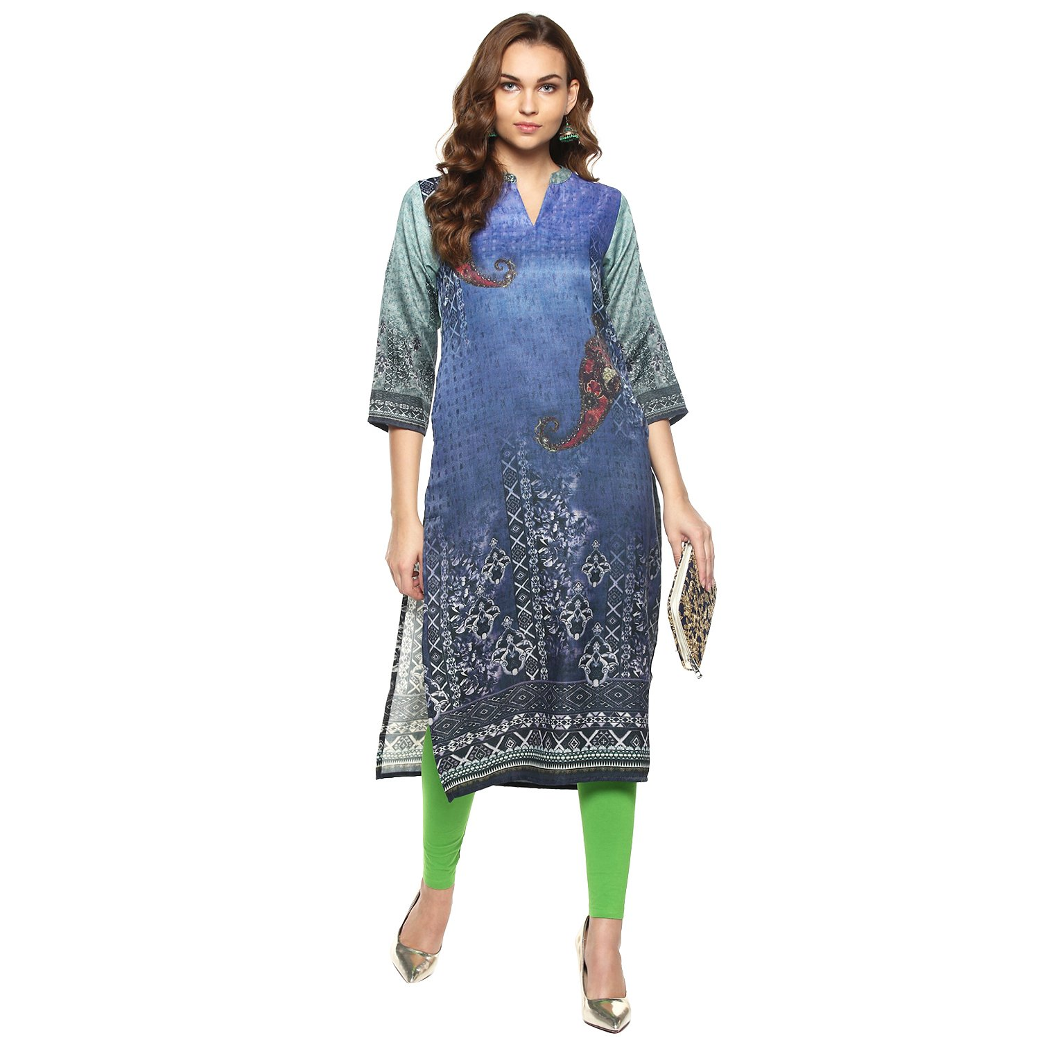 Kurtis Ethnic Women Kurta Kurti Tunic Digital Print Top Dress Casual Wear New Launch by Lagi Turq