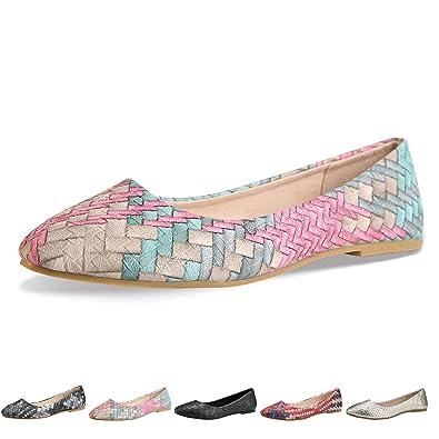 c34a5ccb5c Walking Flats Women's Shoes Black Comfortable Ballet Soles Simple Ballerina  Flats (5-5.5 B