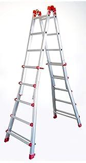 GIERRE AL040 Escalera telescópica de Aluminio EN131 (5+5): Amazon.es: Bricolaje y herramientas