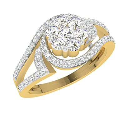 Buy TBZ The Original 18k Yellow Gold and Diamond Ring line at