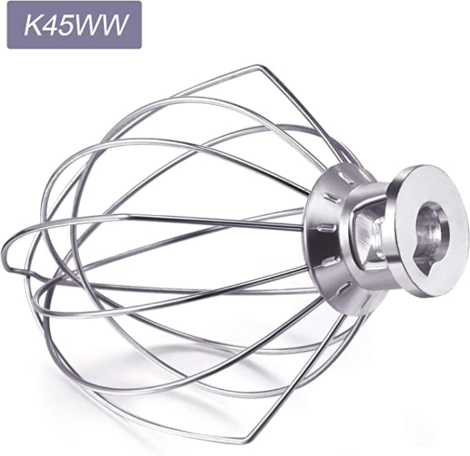 Funmit K45WW Wire Whip K45B Coated Flat Beater K45DH Dough Hook 3 Peaces Repair Set Replacement for Kitchen Aid Tilt-Head Stand Mixer