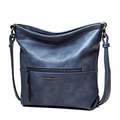 568ba0dbc1 AMELIE GALANTI Women s Small Cross-body Bag Women Shoulder Bag Zipper Purse