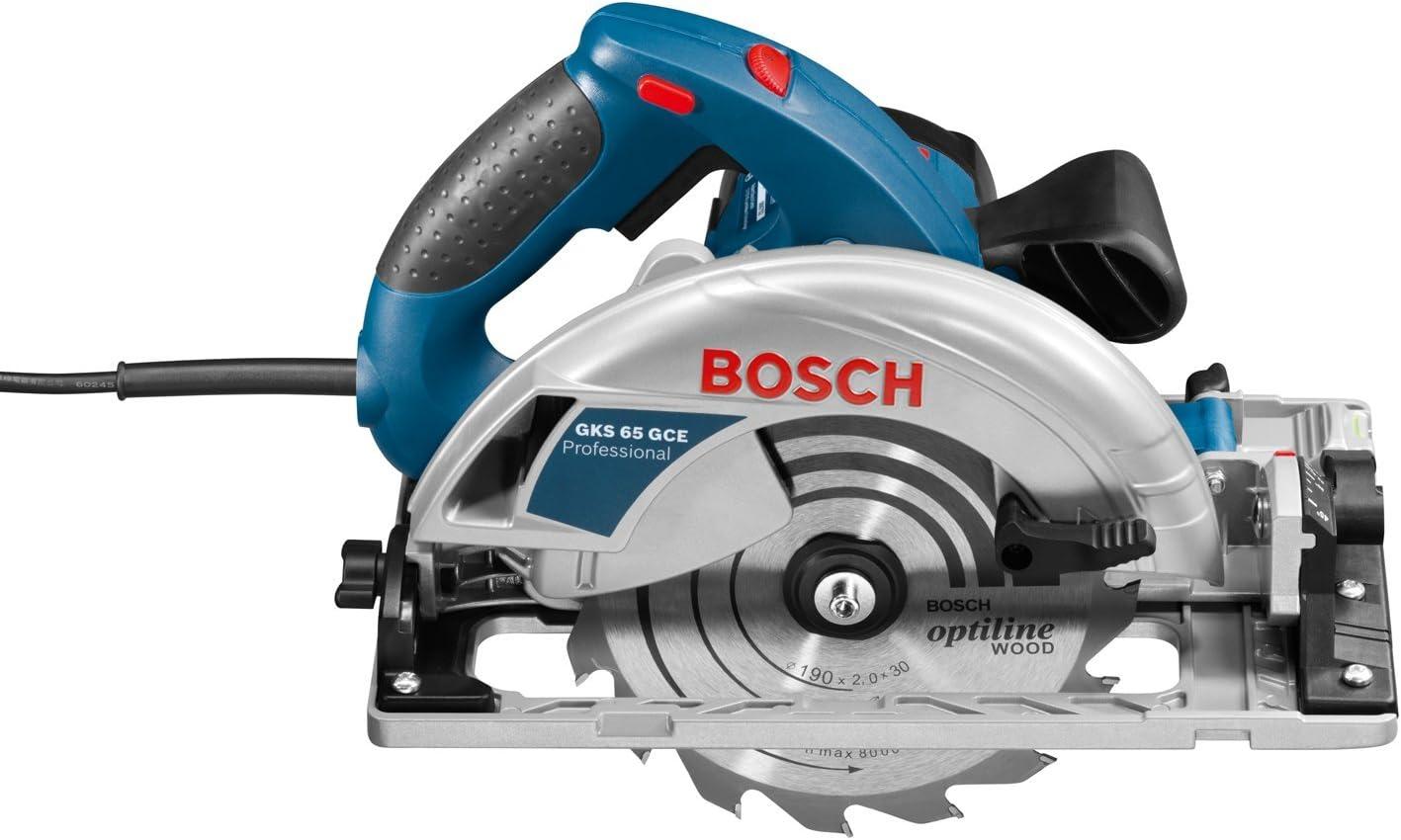 1800 W, /Ø Disco 190 mm, velocidad variable, carril gu/ía, en L-BOXX Sierra circular Bosch Professional GKS 65 GCE