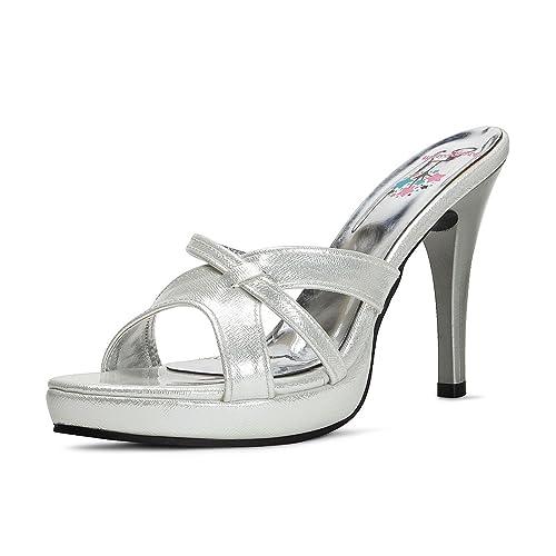 Buy meriggiare Women Synthetic Silver
