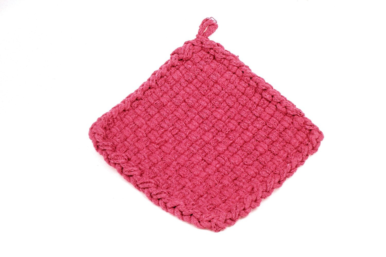 Harrisville Designs Traditional 7 Cotton Loops Makes 2 Potholders Salmon