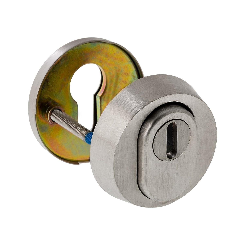 ES1/ + certification protection contre le feu WK2 Bague de protection de cylindre en acier inoxydable V2A mat